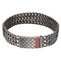 Трехрядный мужской браслет Gucci Diamantissima из серебра с палладием, фото