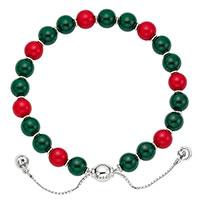 Серебряный браслет с красными и зелеными бусинами Gucci Boule Britt, фото