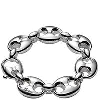 Браслет-цепочка Gucci Marina Chain с крупными звеньями из серебра, фото