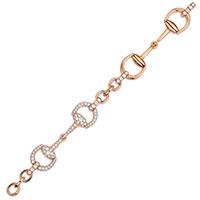 Браслет из розового золота Gucci Horsebit с бриллиантами, фото