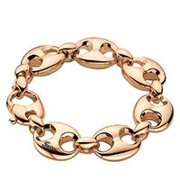 Цепной браслет Gucci Marina Chain из розового золота с крупными звеньями, фото