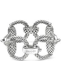 Серебряный браслет Gucci Horsebit, фото