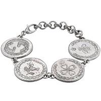 Серебряный браслет Gucci Coin, фото