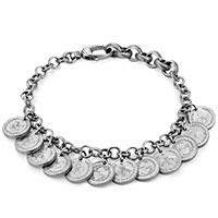 Серебряный браслет Gucci Coin с подвесками в форме монет, фото