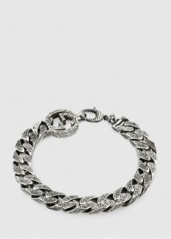 Широкий браслет-цепочка Gucci с филигранным узором, фото