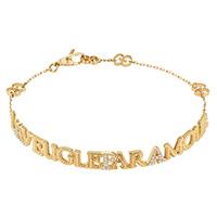 Золотой браслет Gucci L'Aveugle par Amour с бриллиантами и деталями GG на цепочке, фото