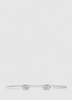 Браслет Gucci GG Running с инкрустированной бриллиантами эмблемой, фото