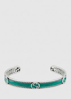 Браслет Gucci Epilogue с эмалевым покрытием ярко-бирюзового цвета, фото