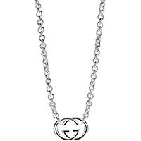 Цепочка Gucci G's с серебряным широким кулоном, фото
