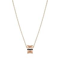 Кулон-кольцо Gucci Icon из розового золота на тонкой короткой цепочке, фото