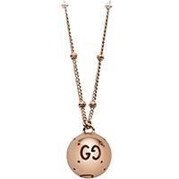 Ожерелье из розового золота Gucci Icon с круглой подвеской, фото