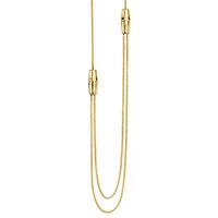 Золотое ожерелье Gucci Bamboo с регуляторами длинны в стиле бамбука, фото