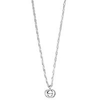 Серебряная цепочка Gucci G's с подвеской с форме слитых букв G, фото