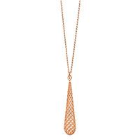 Ожерелье Gucci Diamantissima из розового золота с подвеской в виде капли, фото