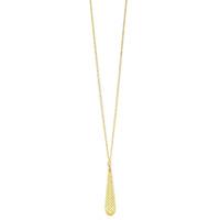 Ожерелье Gucci Diamantissima из желтого золота и белой эмали с перфорацией, фото