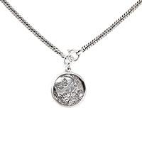 Серебряная цепочка Gucci с кулоном с изображением бабочки, фото