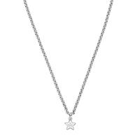 Серебряная цепь Gucci Trademark с подвесом в форме звезды с фирменной гравировкой, фото