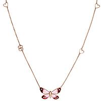 Золотое колье Gucci Flora с кулоном-бабочкой и рубинами, фото