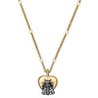 Цепочка с кулоном в виде сердца украшенного пчелой Gucci Le Marche des Merveilles, фото