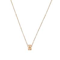Тонкая цепочка Gucci Icon с подвесом из розового золота с цветочным принтом, фото