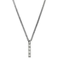 Серебряное ожерелье Gucci Ghost с подвеской и гравировкой , фото