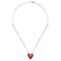 Ожерелье Gucci San Valentino на тонкой серебряной цепочке с подвеской, фото