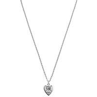 Цепочка с кулоном Gucci ghost в форме сердца с черепом с двухсторонней гравировкой, фото