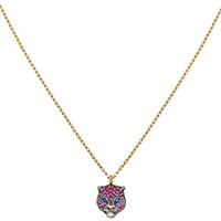 Золотое ожерелье Gucci Le Marche des Merveilles с серебряной подвеской и жемчугом, фото