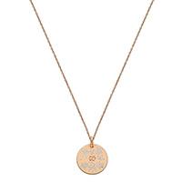 Ожерелье Gucci Icon из розового золота с белым цветочным принтом, фото