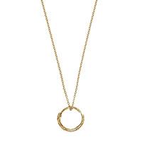 Золотое ожерелье Gucci Ouroboros с цепочкой и кулоном в виде змеи, фото