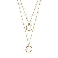 Золотое ожерелье Gucci Ouroborosс двойной цепочкой и двумя подвесками в виде змей, фото