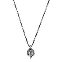 Серебряное ожерелье Gucci Anger Forest с кулоном в виде головы орла, фото