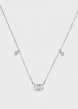 Ожерелье с бриллиантами Gucci GG Running из белого золота, фото