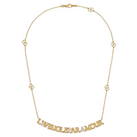 Ожерелье Gucci L'Aveugle par Amour с бриллиантами и деталями GG на цепочке, фото