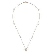 Золотое ожерелье Gucci Flora с подвеской в виде цветка с бриллиантами и перламутром, фото