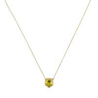 Золотое ожерелье Gucci Le Marche des Merveilles с подвеской и желтым бериллом, фото
