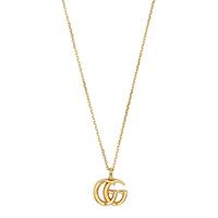 Тонкое золотое ожерелье Gucci Running G с малой подвеской в виде логотипа, фото