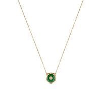 Ожерелье Gucci Le Marche des Merveilles с подвеской, бриллиантами и нефритом, фото