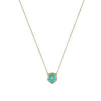 Ожерелье Gucci Le Marche des Merveilles с подвеской, бриллиантами и бирюзой, фото