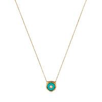Ожерелье Gucci Le Marche des Merveilles с бриллиантами и бирюзой, фото