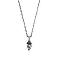 Серебряное ожерелье Gucci Anger Forest с кулоном в виде волчьей головы, фото