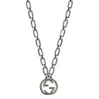 Ожерелье GucciInterlocking G с малой текстурированной подвеской, фото