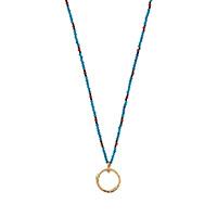Золотое ожерелье Gucci Ouroborosс подвеской из змеи с бирюзовыми каменными глазами, фото