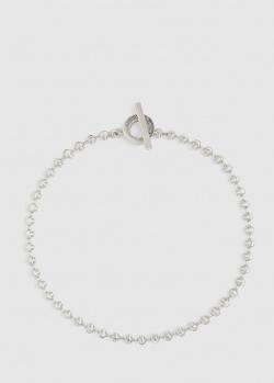 Ожерелье-чокер из серебра Gucci Cruise с рифлением, фото