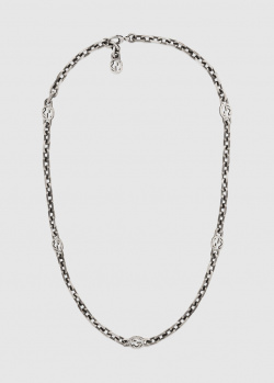 Ожерелье Gucci Interlocking из стерлингового серебра, фото