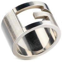Кольцо Gucci из серебра Branded (wide version), фото