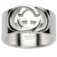 Кольцо Gucci из серебра Silver Britt (wide version), фото