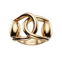 Широкое кольцо Gucci Horsebit из желтого золота, фото