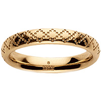 Тонкое кольцо Gucci Diamantissima из желтого золота с узором, фото