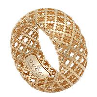 Широкое кольцо Gucci Diamantissima из розового золота с перфорацией, фото
